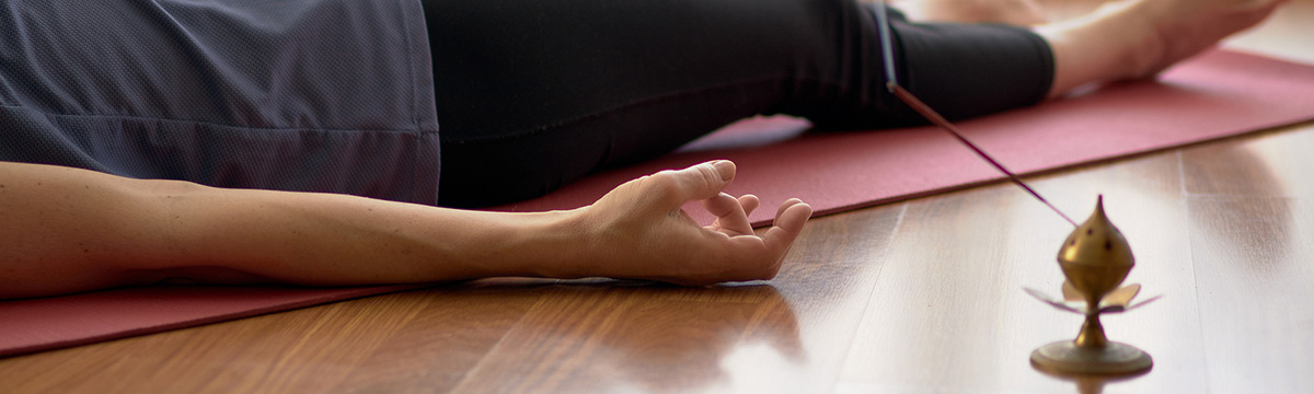 photo of woman in a Yoga Nidra session